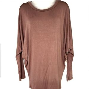 MOA Dolman Solid Tunic Top Blouse NWT